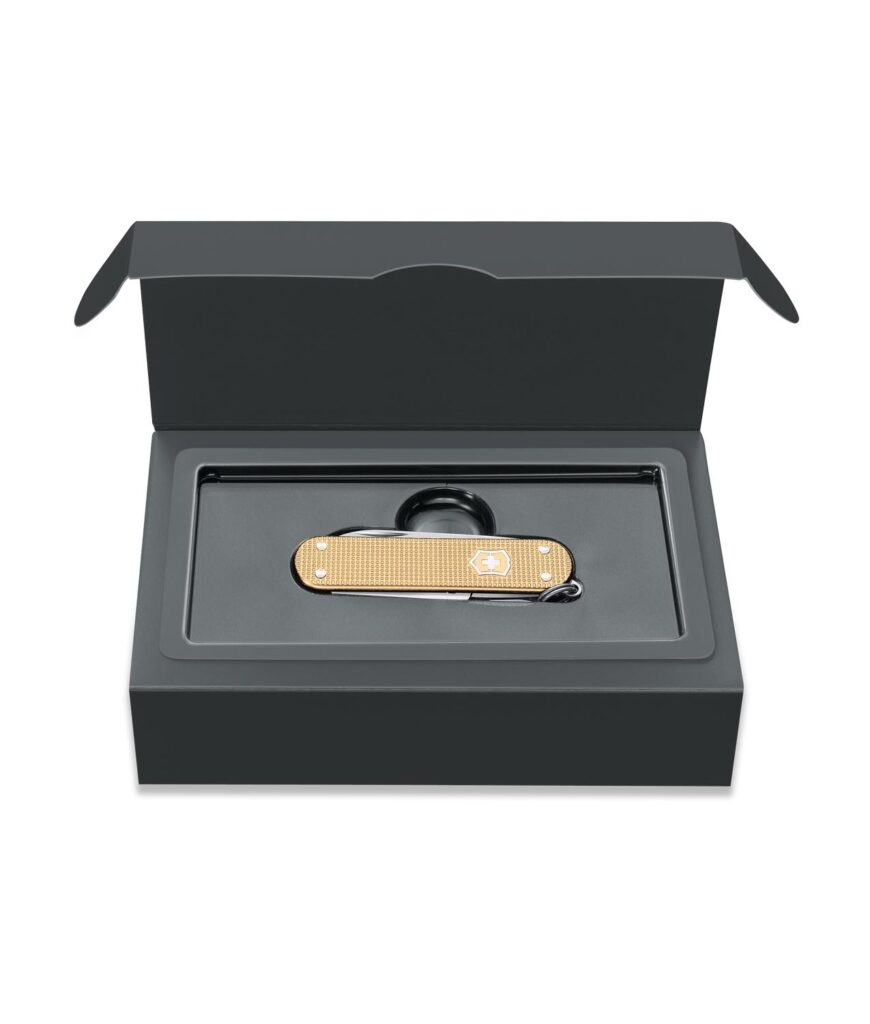 Victorinox Classic Alox Limited Edition 2019 in Champagner Gold in Box